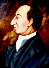 "James Hutton developed theories on rock formation and erosion that became known as ""Huttonian Geology."" This portrait was done by Abner Lowe in the 1920s."