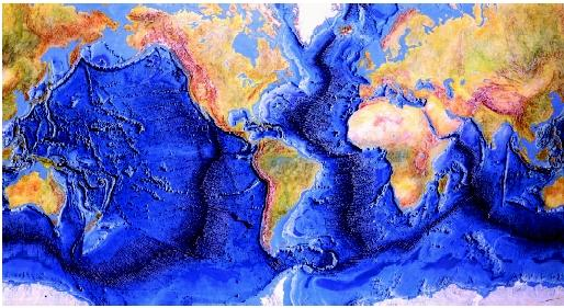 Mid ocean ridges river sea oceans types system pacific a composite map showing the topography relief of the ocean floor clearly reveals the gumiabroncs Images