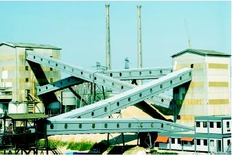 Aggregate companies, such as this sand and gravel plant in Holland, locate where mineral deposits can be economically mined. These sediments were originally deposited in freshwater environments such as stream channels in ancient river valleys.