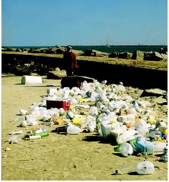 Almost all the marine debris collected at the North Jetty of the Aransas Pass (San Jose Island) has come from offshore. Even this remote Texas barrier island does not escape the floating plastics, Styrofoam® pieces, and other trash items.